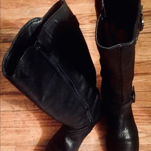 VINCE CAMUTO Shoes - VINCE CAMUTO TALL LEATHER RIDING FULL ZIP  BOOTS 9